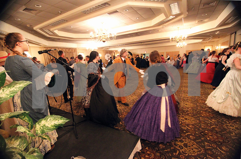 Spencer Tulis / Finger Lakes Times<br /> The Celebrate Commemorate Committe recently presented A Civil War Ball which was held at the Waterloo Holiday Inn. Civil War era attire was encouraged as dance guidance was provided.