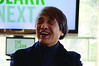 Architect Tadao Ando visits The Clark Art on Thursday, Dec. 12, 2013, to speak with the media and see the progress on construction. The Clark is set to reopen on July, 4, 2014. (Gillian Jones/North Adams Transcript)