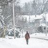 KRISTOPHER RADDER — BRATTLEBORO REFORMER<br /> A man walks on South Main Street in Brattleboro on Monday, Dec. 2, 2019.