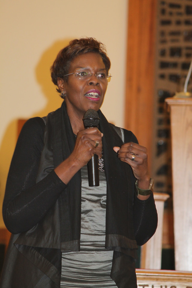 LAWRENCE PANTAGES / GAZETTE The president and CEO of the YWCA of Greater Cleveland, Margaret Mitchell, was the featured speaker at Thursday night's 14th Black History Month program sponsored by Second Baptist Church of Medina and the American Association of University Women.
