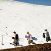 "Snowboarders enjoy the last few days of the ski season on Friday, July 1, at Arapahoe Basin Ski Resort in Summit County. For a video of the ski day go to  <a href=""http://www.dailycamera.com"">http://www.dailycamera.com</a><br /> Jeremy Papasso/ Camera"