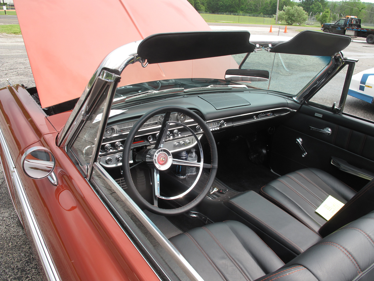 BOB FINNAN / GAZETTE The 1962 Ford Galaxie Coyote's interior was pristine. It was on display at the Cloverleaf High School bowling team's car show Sunday.
