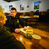 KRISTOPHER RADDER — BRATTLEBORO REFORMER<br /> Brattleboro Police Department held its Coffee with a Cop event at The Works, in Brattleboro, on Wednesday, Dec. 18, 2019.