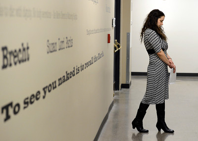 Lanie Novack, of Longmont, paces in the hallway before her audition for the Colorado Shakespeare Festival on Friday, Jan. 18, at the Denver Performing Arts Tramway building in Denver. For more photos and video of the audition go to www.dailycamera.com Jeremy Papasso/ Camera