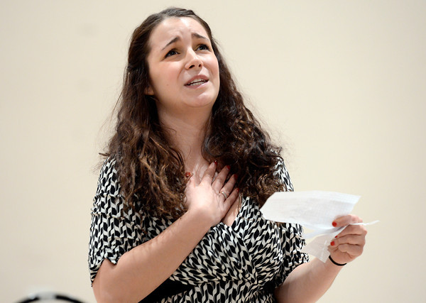 "Lanie Novack, of Longmont, auditions for the Colorado Shakespeare Festival on Friday, Jan. 18, at the Denver Performing Arts Tramway building in Denver. For more photos and video of the audition go to  <a href=""http://www.dailycamera.com"">http://www.dailycamera.com</a> Jeremy Papasso/ Camera"