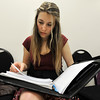 "University of Wyoming student Chloe King reads over her lines during an audition for the Colorado Shakespeare Festival on Friday, Jan. 18, at the Denver Performing Arts Tramway building in Denver. For more photos and video of the audition go to  <a href=""http://www.dailycamera.com"">http://www.dailycamera.com</a> Jeremy Papasso/ Camera"