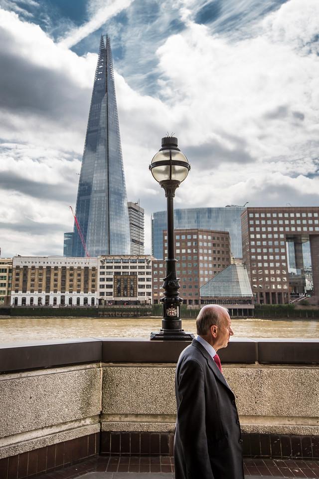 PHOTO OLIVIER PONTBRIAND LA PRESSE.- LONDRE - Dans cette photo L'édifice SHARD le plus haut d'europe récemment terminé. The shard à été en partie réalisé par la firme wsp maintenant affillié a Genivar<br /> -30-  Référence #   Section: Affaire