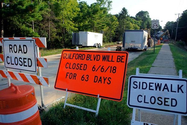 Construction continues on Guilford Boulevard