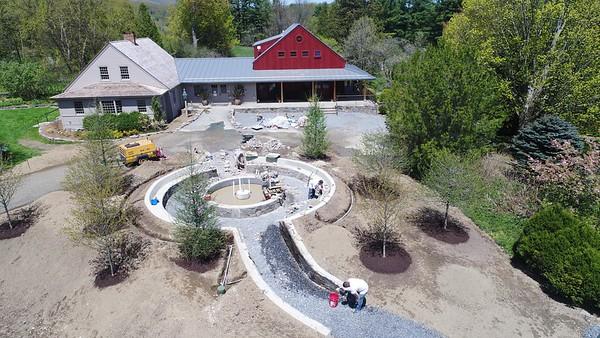 Construction of the entrance garden at the Berkshire botanical Garden - 051418