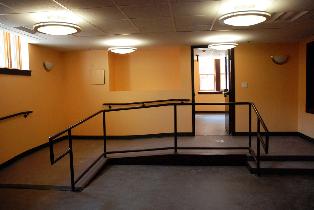 . Kayla Rice/Reformer                                 A ramp in the children\'s section of the newly renovated Rockingham Public Library in Bellows Falls.