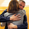 Corey Smith, of Louisville, hugs his mother Susan Statz on Friday, April 29, after receiving his sentence for the death of Jennefer Treasure during a sentencing hearing at the Boulder County Justice Center in Boulder. <br /> Jeremy Papasso/ Camera