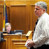 Jennefer Treasure's father Tarey Treasure speaks to the court on Friday, April 29, during the sentencing hearing of Corey Smith at the Boulder County Justice Center in Boulder. Treasure's daughter was run off the road and killed by Smith. <br /> Jeremy Papasso/ Camera