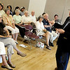 "Author Harlan Abrahams, right, talks about the changes that Cuba is going through during Cuba Day on Saturday, July 23, at the Senior Center in the East Boulder Recreation Center on Sioux Drive in Boulder. For more photos and video of Cuba Day go to  <a href=""http://www.dailycamera.com"">http://www.dailycamera.com</a><br /> Jeremy Papasso/ Camera"