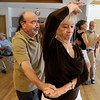 "Michel Vella, of Boulder, and his wife Eleanor Vella dance to latin music during Cuba Day on Saturday, July 23, at the Senior Center in the East Boulder Recreation Center on Sioux Drive in Boulder. For more photos and video of Cuba Day go to  <a href=""http://www.dailycamera.com"">http://www.dailycamera.com</a><br /> Jeremy Papasso/ Camera"