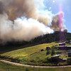 "Fire turns towards the town of Gold Hill as taken by photographer Greg Cortopassi on Monday.<br /> Photos Greg Cortopassi <a href=""http://cortoimages.com"">http://cortoimages.com</a>"