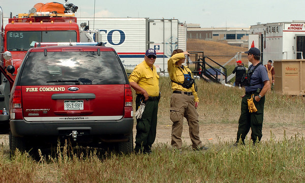 "Firefighters from all around the area are camped out at the Command Center at the Boulder Reservoir.<br /> For  videos relating to the fire,  go to  <a href=""http://www.dailycamera.com"">http://www.dailycamera.com</a>.<br /> Cliff Grassmick / September 8, 2010"