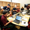 "Fire staff work in the public information office at the command center.<br /> For  videos relating to the fire,  go to  <a href=""http://www.dailycamera.com"">http://www.dailycamera.com</a>.<br /> Cliff Grassmick / September 8, 2010"