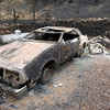 "A destroyed car seen on Photos by Jeff Orlowski  <a href=""http://www.jefforlowski.com"">http://www.jefforlowski.com</a>"