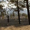 "Fire burned through a cemetery on Sunshine Canyon. Photos by Jeff Orlowski  <a href=""http://www.jefforlowski.com"">http://www.jefforlowski.com</a>"
