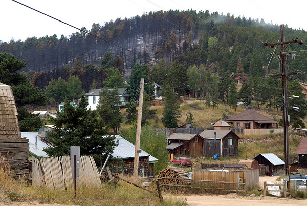 "A view of the burned hill behind Gold Hill on Wednesday.<br /> Photos by Jeff Orlowski  <a href=""http://www.jefforlowski.com"">http://www.jefforlowski.com</a>"