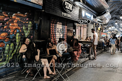 Nightlife at Mahane Yehuda Market in Jerusalem, Israel