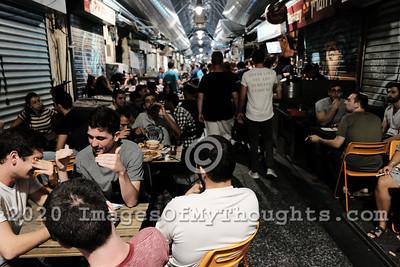 Nightlife at Mahane Yehuda Market in Jerusalem, Israel