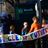 KRISTOPHER RADDER - BRATTLEBORO REFORMER<br /> A group of a 100 protesters gather at the TD Bank on Main Street in Brattleboro, Vt., on Wednesday, Feb 22, 2017, as they protest the bank's investment in the Dakota Access Pipeline. Tim Stevenson, Li Pon Owen, and Daniel Sicken, were arrested after barricading themselves in the entryway of the TD Bank on Main Street in Brattleboro, Vt., on Wednesday, Feb 22, 2017.