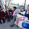 KRISTOPHER RADDER - BRATTLEBORO REFORMER<br /> Some pedestrians make angry comments to the protesters blocking the sidewalk in front of the TD Bank on Main Street in Brattleboro, Vt., on Wednesday, Feb 22, 2017.