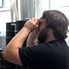 ADAM SHANKS — THE BERKSHIRE EAGLE<br /> Bright Ideas Brewing Head Brewer Danny Sump takes a specific gravity reading using a refractometer.