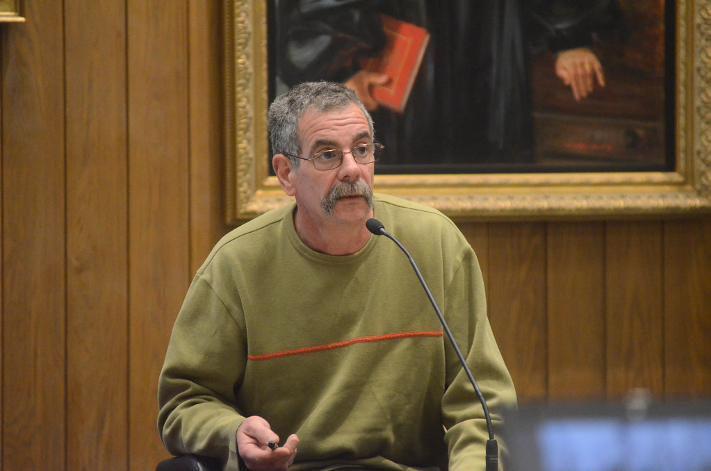 . Alan Pavoni testifies in the David Chalue triple murder trial in Hampden Superior Court in Pittsfield on Tuesday, April, 30, 2014. Gillian Jones / Berkshire Eagle Staff / photos.berkshireeagle.com