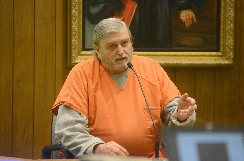 . David Casey testifies in the David Chalue trial in Hampden Superior Court in Springfield on Tuesday, April, 30, 2014. Gillian Jones / Berkshire Eagle Staff / photos.berkshireeagle.com