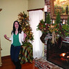 """Alexandra Yiannoutsos performs """"Jingle Bell Rock"""" at the Hain home on Williamsburg Lane during Carol of Homes."""