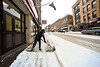 KRISTOPHER RADDER - BRATTLEBORO REFORMER<br /> Local residents dig out of the snow after an early morning storm dropped between four to eight inches of snow on Monday, Dec. 12, 2016.