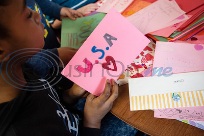 Dixie Elementary School student Karmen Dunning, 10, works on Valentine's Day cards for veterans during school on Feb. 7, 2020. The project was set up through a partnership with Hospice of East Texas.  (Sarah A. Miller/Tyler Morning Telegraph)