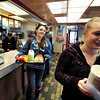 "Breanna Sirbin, left, and Stephanie Winter, both of Boulder, carry their lunch to a table on Friday, Feb. 3, at the McDonalds on 28th Street in Boulder. For a video about why a new McDonalds is being built go to  <a href=""http://www.dailycamera.com"">http://www.dailycamera.com</a><br /> Jeremy Papasso/ Camera"