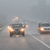 KRISTOPHER RADDER — BRATTLEBORO REFORMER<br /> Vehicles parked on the side of I-91 as rain and hail cause blinding conditions during a rainstorm that passed through the area on Wednesday, Aug. 7, 2019.