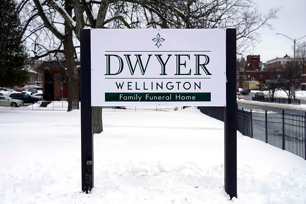 BEN GARVER — THE BERKSHIRE EAGLE<br /> Dwyer Funeral Home, Pittsfield's oldest funeral home, has purchased Wellington Funeral Home's site in Pittsfield and Dalton.Wednesday, December 4, 2019.