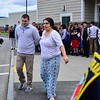 KRISTOPHER RADDER - BRATTLEBORO REFORMER<br /> Elise Fales performs a mock arrest of Hinsdale's Athletic Director Nick Pillsbury during one of 15 various demonstrations that showcased the skills the ELO students have learned on Friday, May 12, 2017.