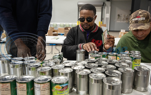 Blind people volunteer at East Texas Food Bank