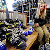 "Melanie Little prepares the new ski rental boots for Friday's opening.<br /> Eldora Mountain Resort will open on Friday November 16, 2012.<br /> For more photos and a video from Eldora, go to  <a href=""http://www.dailycamera.com"">http://www.dailycamera.com</a><br /> Cliff Grassmick  / November 15, 2012"
