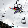"Snowboarders ride the chairlift on opening day on Friday, Nov. 16, at Eldora Mountain Resort. For more photos and video of opening day go to  <a href=""http://www.dailycamera.com"">http://www.dailycamera.com</a><br /> Jeremy Papasso/ Camera"