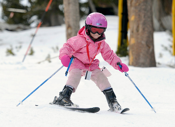 "A young girl practices her skiing during opening day at Eldora Mountain Resort on Friday, Nov. 16. For more photos and video of opening day go to  <a href=""http://www.dailycamera.com"">http://www.dailycamera.com</a><br /> Jeremy Papasso/ Camera"