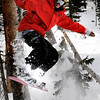 """Steven Keys, 23, of Boulder, catches some air while enjoying the fresh powder during the opening day of Eldora Ski Resort on Friday, Nov. 19, in Nederland.<br /> For more photos and video of opening day go to  <a href=""""http://www.dailycamera.com"""">http://www.dailycamera.com</a><br /> Jeremy Papasso"""