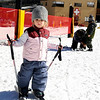 "River Lemaster, 2, of Rollinsville, tries out some new skis on Friday, Nov. 18, during Eldora Mountain Resort's opening day. For more photos and video of opening day go to  <a href=""http://www.dailycamera.com"">http://www.dailycamera.com</a><br /> Jeremy Papasso/ Camera"