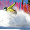 "Trevor Daugherty, of Nederland, sprays some snow while snowboarding on Friday, Nov. 18, during Eldora Mountain Resort's opening day. For more photos and video of opening day go to  <a href=""http://www.dailycamera.com"">http://www.dailycamera.com</a><br /> Jeremy Papasso/ Camera"