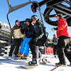 "Eldora lift operator Ben Davis, right, watches as Glenn Miller, of Longmont, left, Eliot Lee, of Blackhawk, center, and Keith Speckman, of Boulder, ride the first chair on opening day at Eldora Mountain Resort on Friday, Nov. 18. For more photos and video of opening day go to  <a href=""http://www.dailycamera.com"">http://www.dailycamera.com</a><br /> Jeremy Papasso/ Camera"