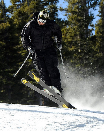 "Jay Jones, of Nederland, catches some air on Friday, Nov. 18, during Eldora Mountain Resort's opening day. For more photos and video of opening day go to  <a href=""http://www.dailycamera.com"">http://www.dailycamera.com</a><br /> Jeremy Papasso/ Camera"