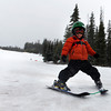 "Colby Wyjad, 4,ski's down the bunny slope at Eldora Mountain Resort during the last day of the season on Sunday, April, 15, 2012, Boulder. <br /> Photo by Derek Broussard<br /> For more photos and video visit  <a href=""http://www.dailycamera.com"">http://www.dailycamera.com</a>"