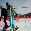 Britton Lendz, 17, of Eaton, (right) and Erik Blais, of Fort Collins, make their way to the chair lift at Eldora Ski Resort near Nederland, Thursday, Dec. 17, 2009. Eldora is seeing better and more snow than usual, and is working on opening up terrain parks and back bowls early this season. <br />  <br /> KASIA BROUSSALIAN