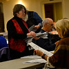 KRISTOPHER RADDER — BRATTLEBORO REFORMER<br /> Holly Bowen and others hand count the ballots at the Brattleboro American Legion, in Brattleboro, Vt., during the 2018 Midterm elections on Tuesday, Nov. 6.